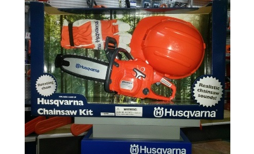 Husqvarna speelgoed kettingzaag + accesoires