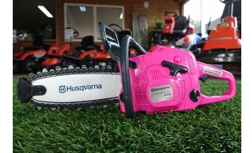 Husqvarna speelgoed kettingzaag Pink Ribbon